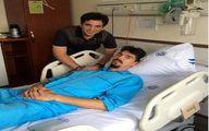 ستاره تیم ملی والیبال در بیمارستان بستری شد/ عکس