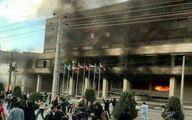 مهاباد: تجمع و آتش زدن هتل در اعتراض به مرگ مشکوک دختر جوان / 25 نفر زخمی شدند +عکس