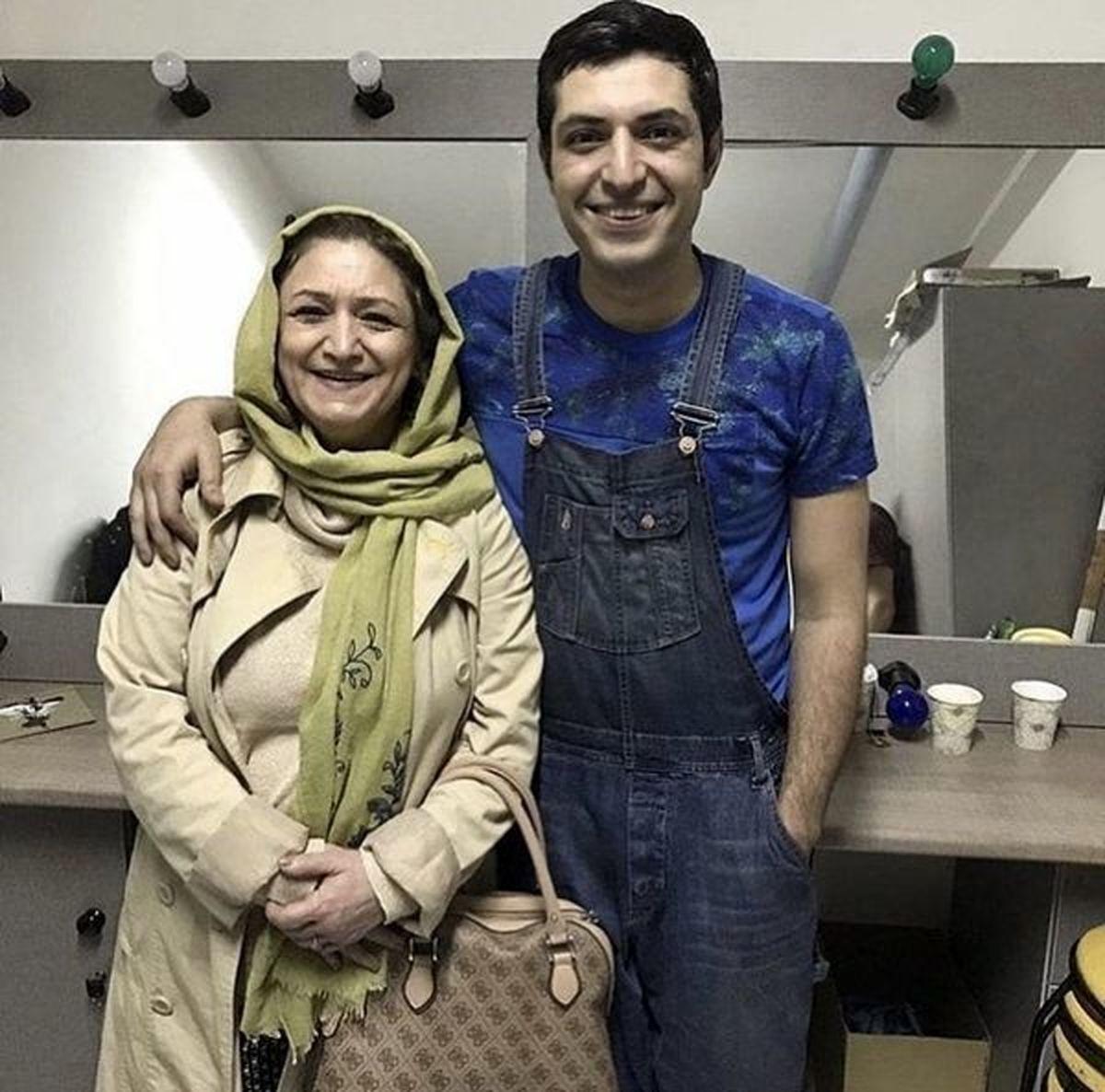 اشکان خطیبی در کنار مادرش + عکس
