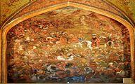 صحنه نبرد چالدران در کاخ چهل ستون اصفهان