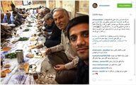 سلفی علیرضا دبیر برسر سفره افطار/عکس