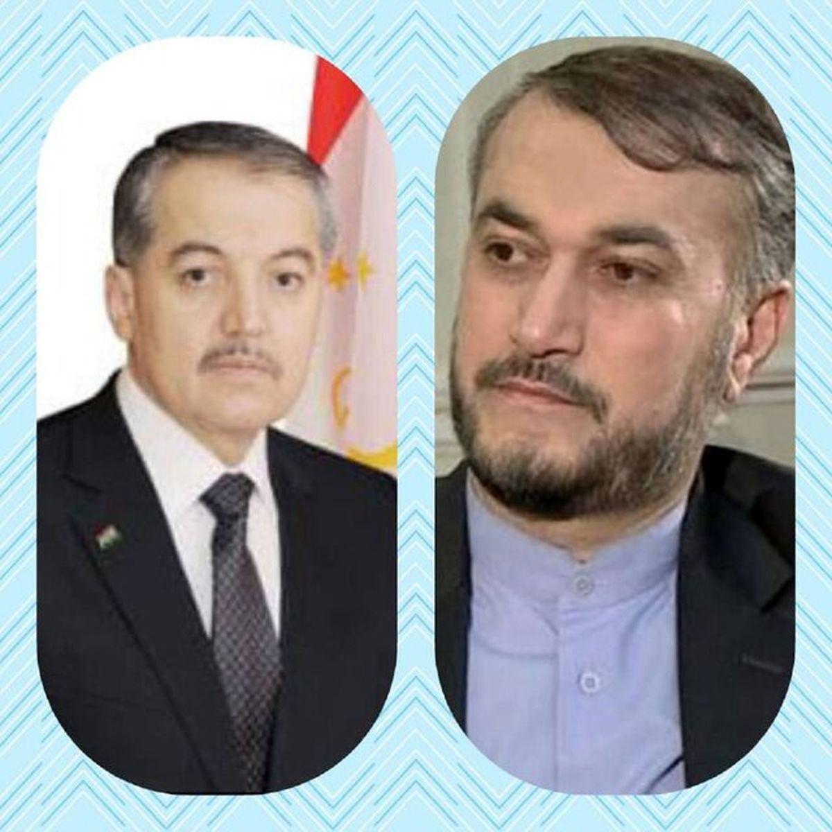 تبریک وزیر خارجه تاجیکستان به امیرعبداللهیان