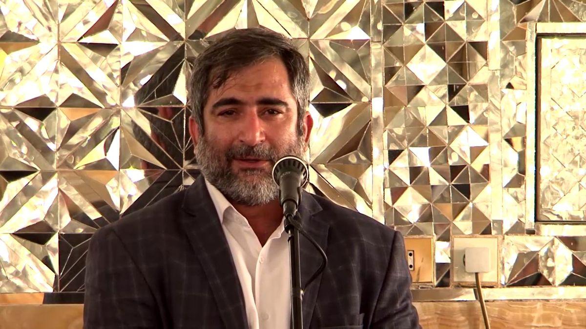 مرثیه سرایی جواد حیدری در سوگ پیامبر اکرم (ص)