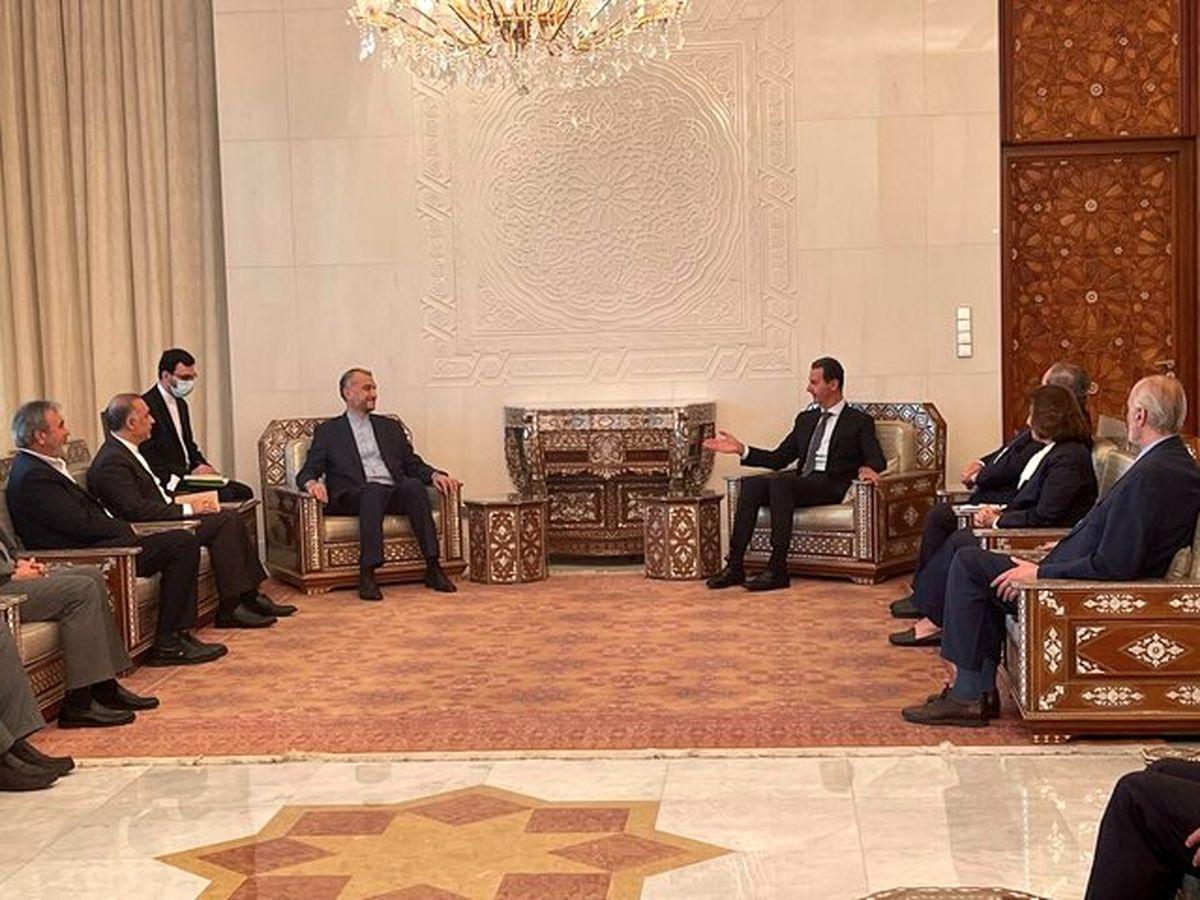 دیدار وزیر امور خارجه ایران با بشار اسد
