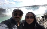 عکسی از محسن تنابنده به همراه همسرش