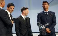 ناراحتی رونالدو از اهدای جایزه بهترین بازیکن اروپا به مسی/تصاویر