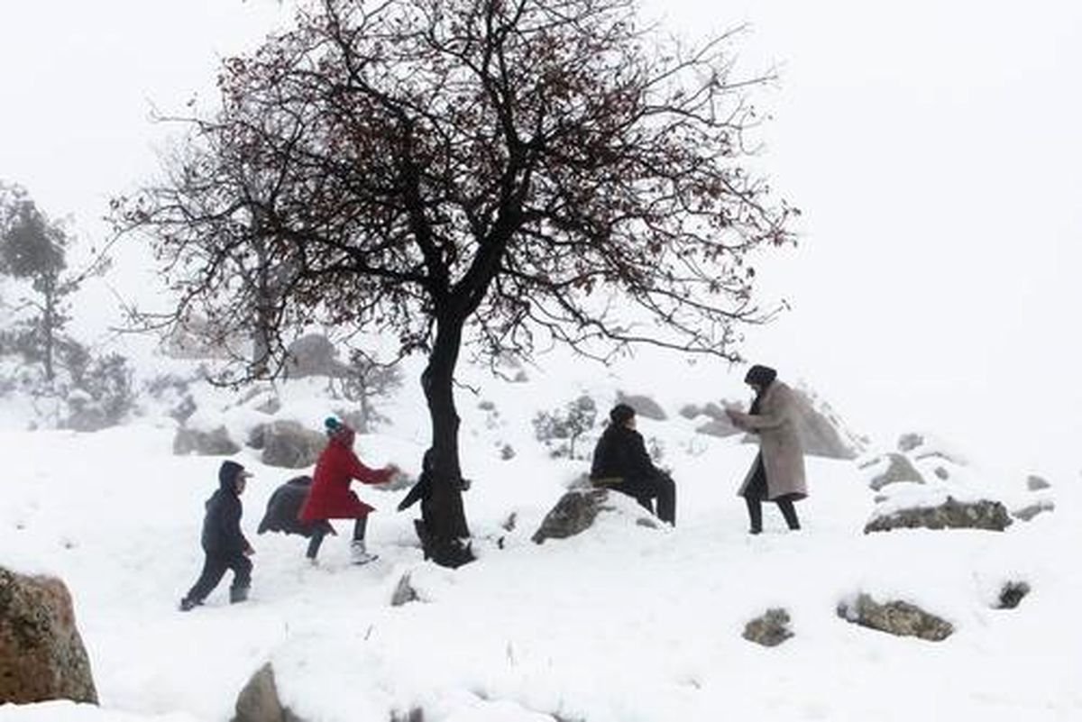 تصاویری زیبا از باریدن برف در خاورمیانه