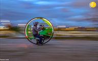 یک ایرانی مقیم ترکیه از ضایعات موتورسیکلت تکچرخ ساخت+عکسها