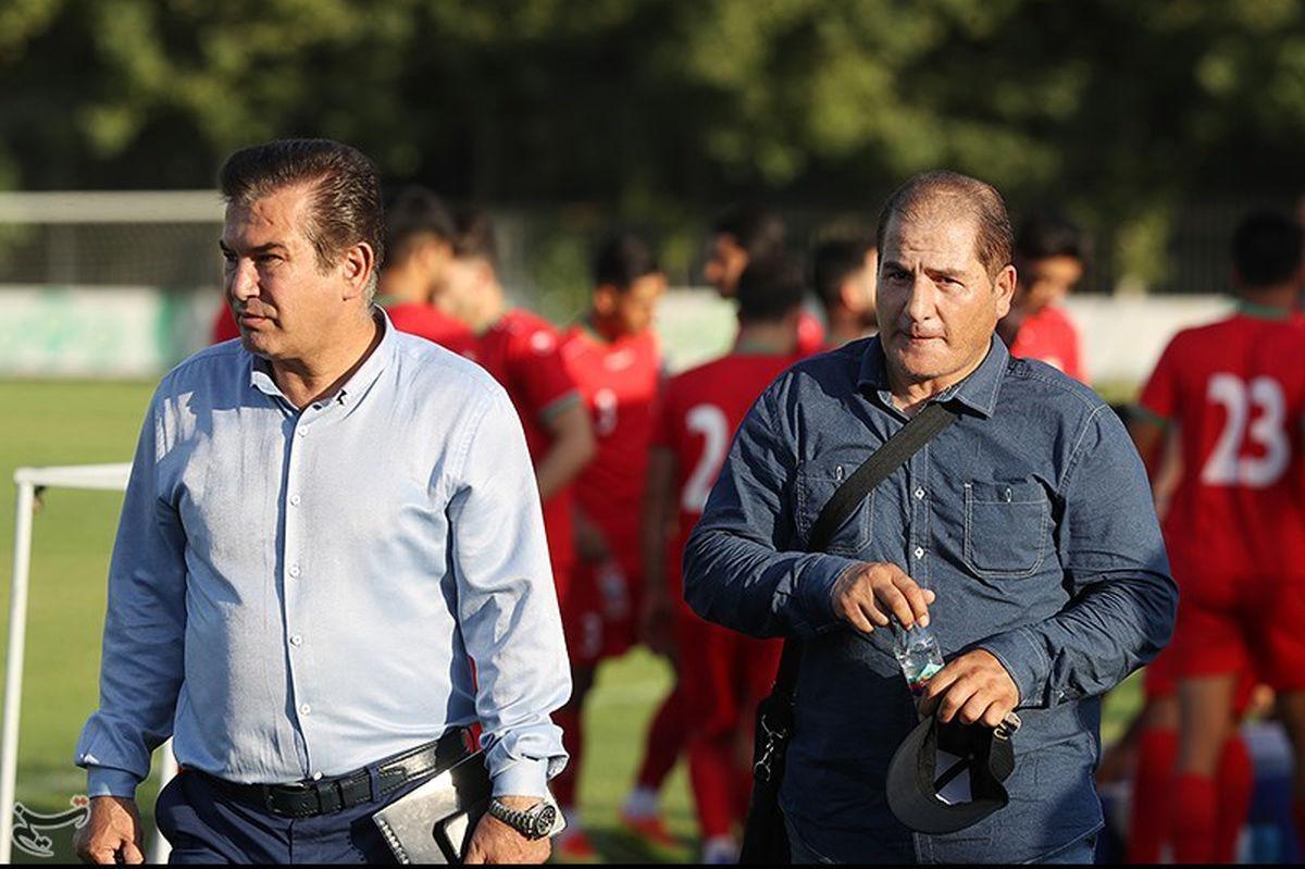 علی اکبر استاداسدی و حمید استیلی در تمرین تیم ملی امید