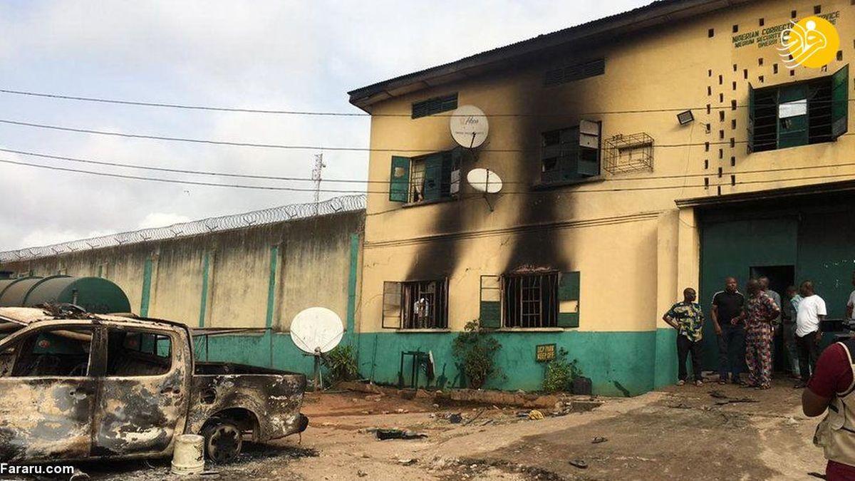 مهاجمان مسلح در نیجریه ۱۸۰۰ زندانی را فراری دادند+عکسها