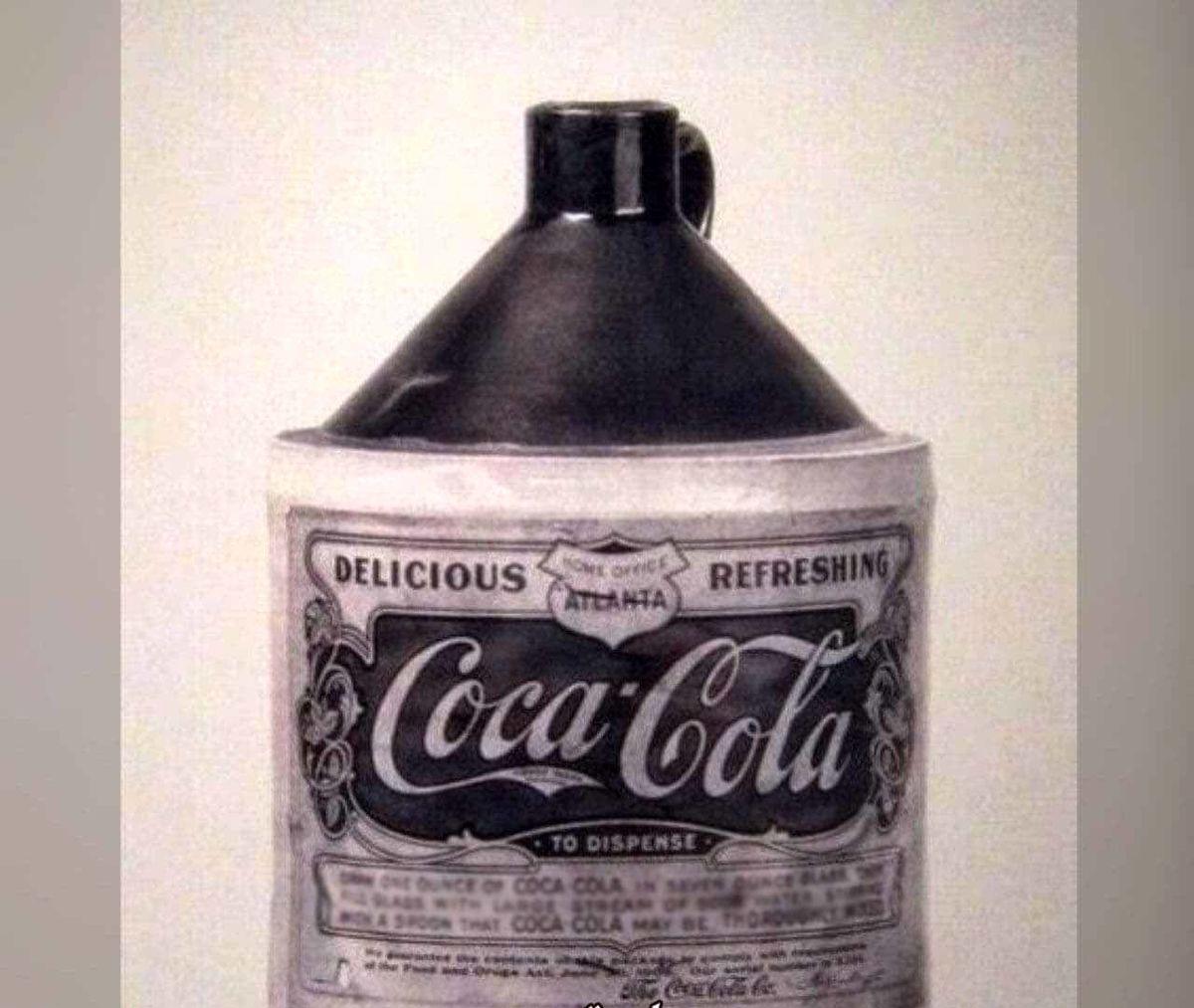 عکس دیدنی از اولین شیشه کوکاکولا