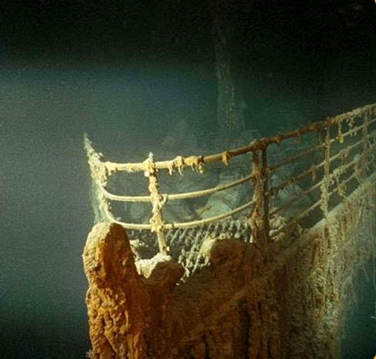 اولین عکس از دماغه کشتی تایتانیک در روزی که پیدا شد