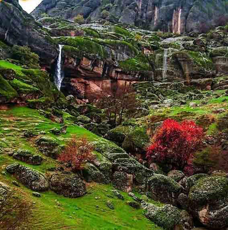 تصویر باورنکردنی در ایران؛مخمل کوه +آدرس