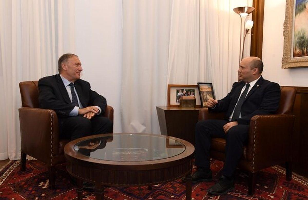 دیدار محرمانه نخست وزیر رژیم صهیونیستی با پمپئو درخصوص ایران