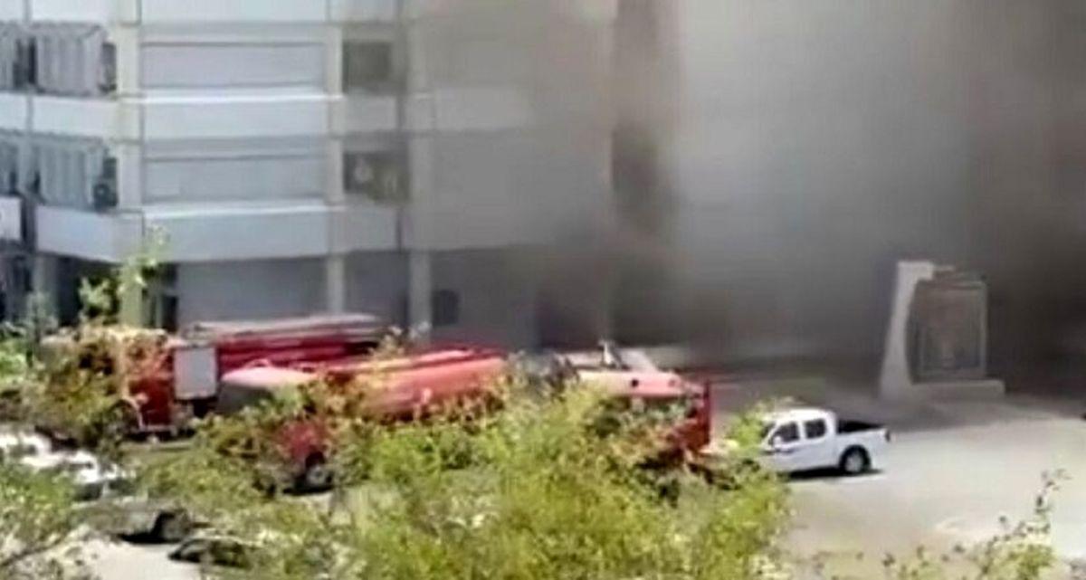 اولین فیلم از آتشسوزی بزرگ ساختمان وزارت بهداشت عراق !