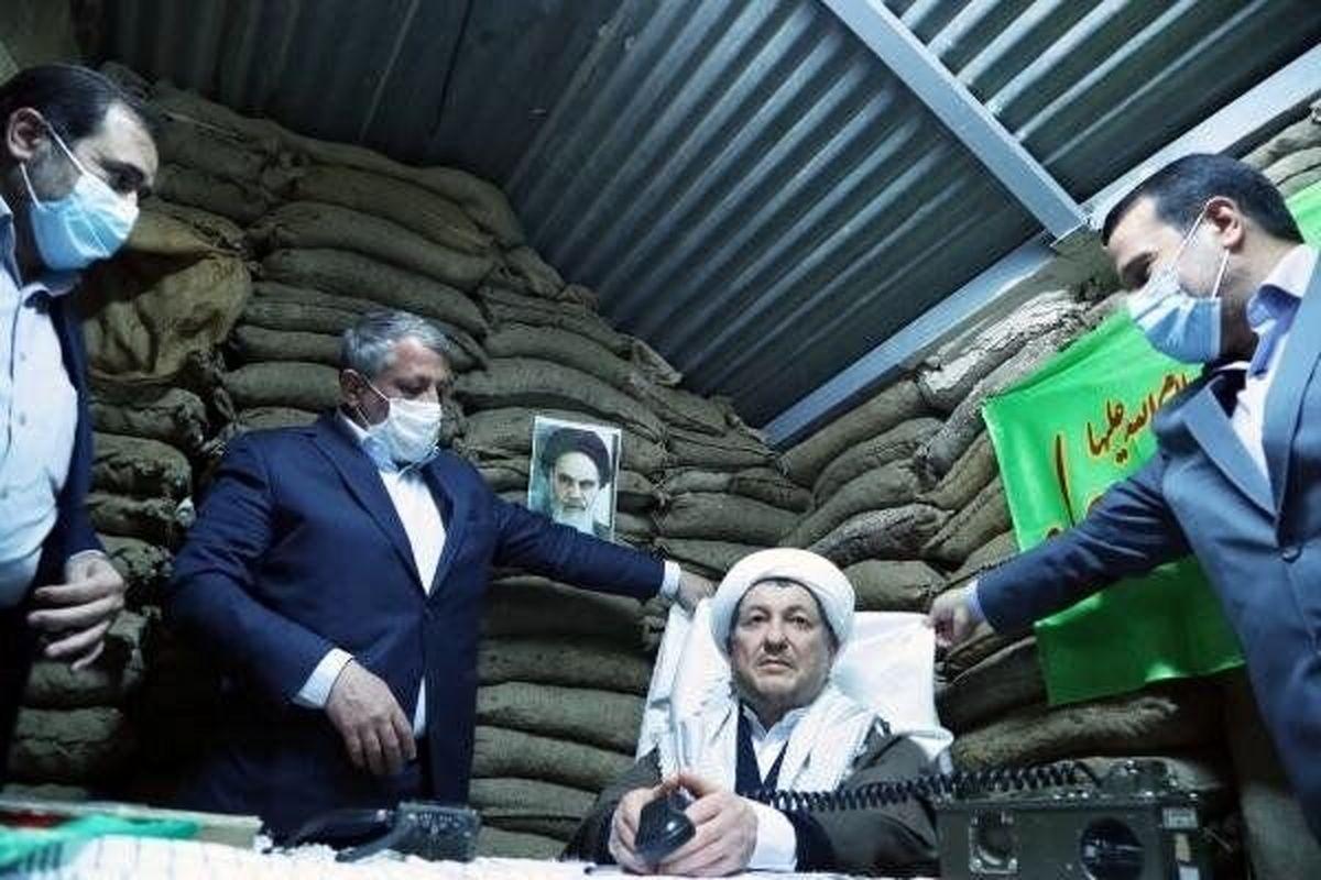 تندیس آیت الله هاشمی رفسنجانی در زمان دفاع مقدس عکس