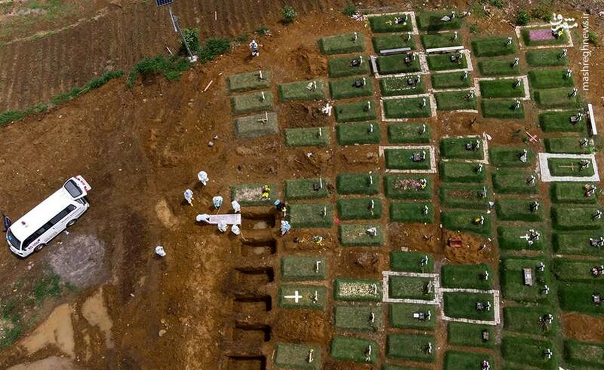 فیلم وحشتناک از یک قبرستان در اندونزی