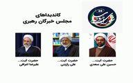 لیست مورد حمایت شورای وحدت برای مجلس خبرگان