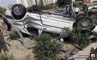تصادف شدید پژو۲۰۶ با تندر۹۰ در بزرگراه آزادگان/تصاویر
