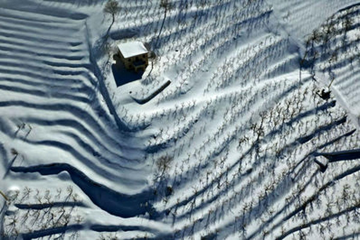 مناظر زیبای زمستانی کوهستانهای لبنان