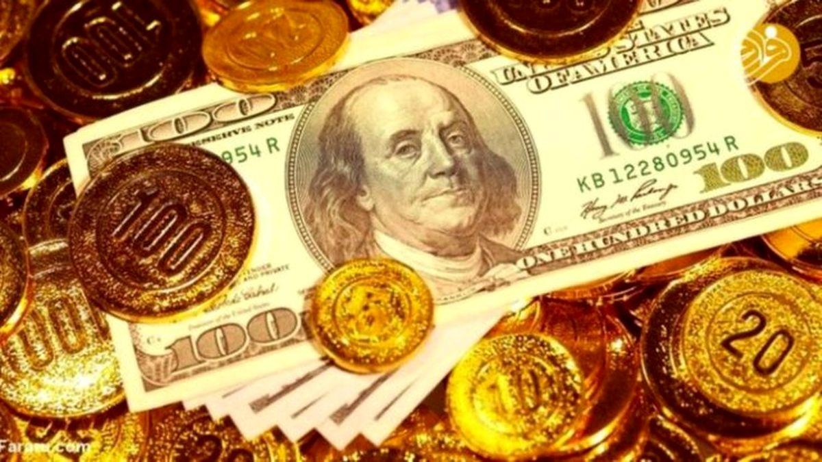 آخرین قیمت سکه ، قیمت طلا و قیمت ارز امروز / طلا از کانال یک میلیون تومان عقب مینشیند؟