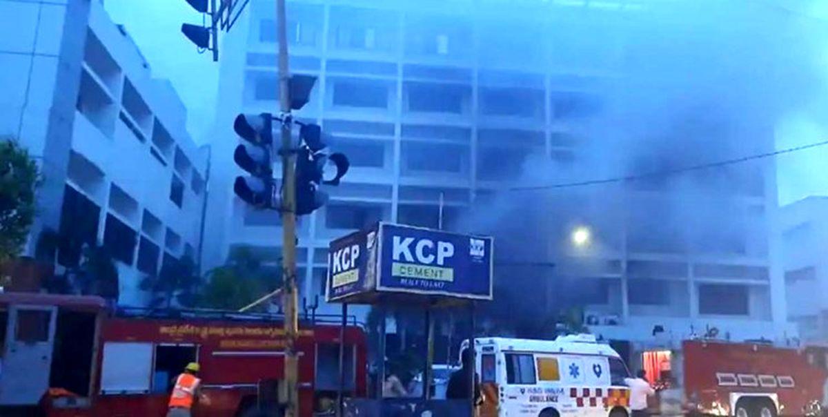 مرگ 13 نفر بیمار کرونایی به دلیل آتشسوزی در هند