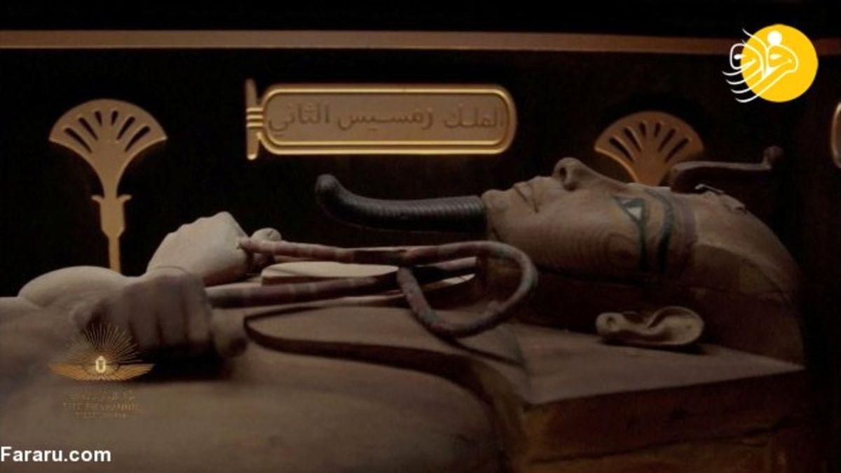 تصاویر دیده نشده از رژه فرعونهای مومیایی در جنوب شهر قاهره