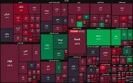 ریزش ۵ هزار واحدی شاخص بورس امروز 21 فروردین + نقشه بازار بورس