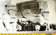 عکس زیرخاکی از تخت جمشید ۱۲۹۰ / عکس