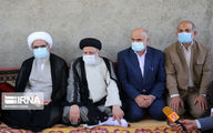 تصاویر رییس جمهور با مردم و کشاورزان در تنگستان