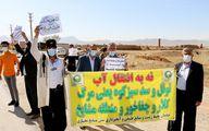 تصاویر منتشر شده؛ اعتراض به طرحهای انتقال آب در شهرکرد