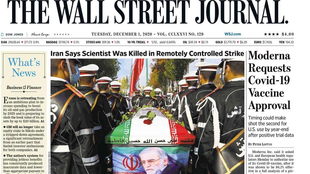 شهید فخریزاده عکس یک روزنامه آمریکایی شد + عکس