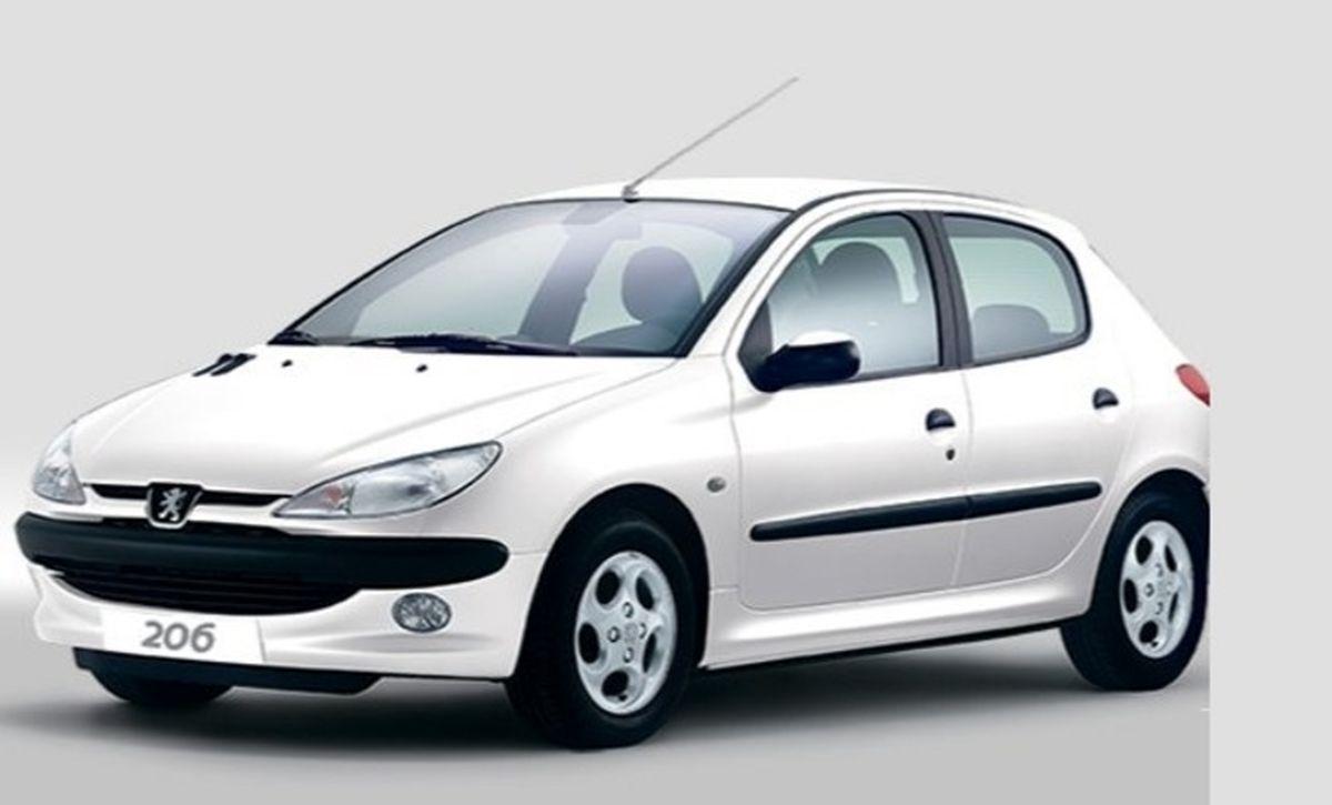 افزایش 40 میلیونی قیمت پژو ۲۰۶ / آخرین نرخ خودروها در بازار