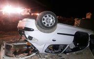 خودرو ستاره لیگ برتر فوتبال پس از تصادف شدید/ عکس