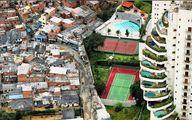 فاصلهی بین فقیر و غنی تنها با یه دیوار / عکس