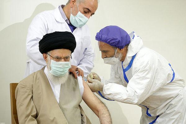 تزریق واکسن کوو ایران برکت به رهبر معظم انقلاب