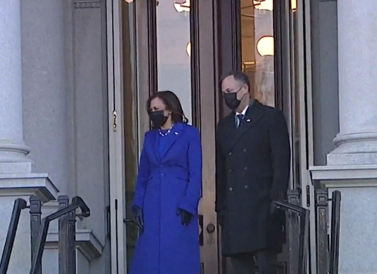 جو بایدن و کامالا هریس به کاخ سفید رسیدند