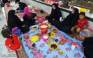 سفرههای افطار در بین الحرمین/تصاویر