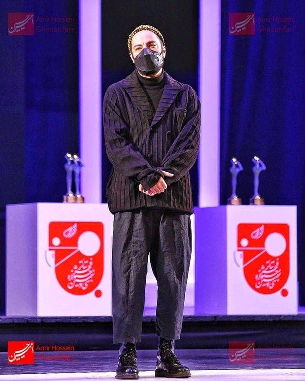 استایل خبرساز و متفاوت نوید محمدزاده درجشنواره تئاتر فجر! +عکس