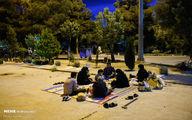 افطار در جوار شهدا+عکسها