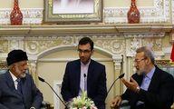 وزیر خارجه عمان به لاریجانی: ایرانیان افراد عاقل و حکیم هستند/ خیال ما از ایرانیها آسوده است
