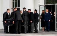 ترامپ و همسرش در مراسم خاكسپاري برادرش + عكس