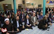 عکسی از پدر شوهر مهناز افشار در مراسم معمم شدن پسر سیدحسن خمینی