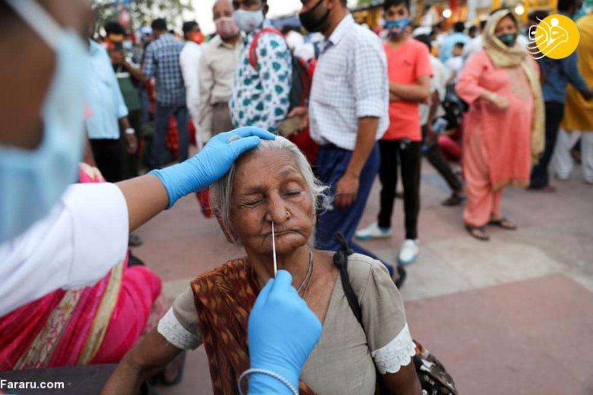 غسل دسته جمعی هزاران هندو در سایه کرونا+عکسها