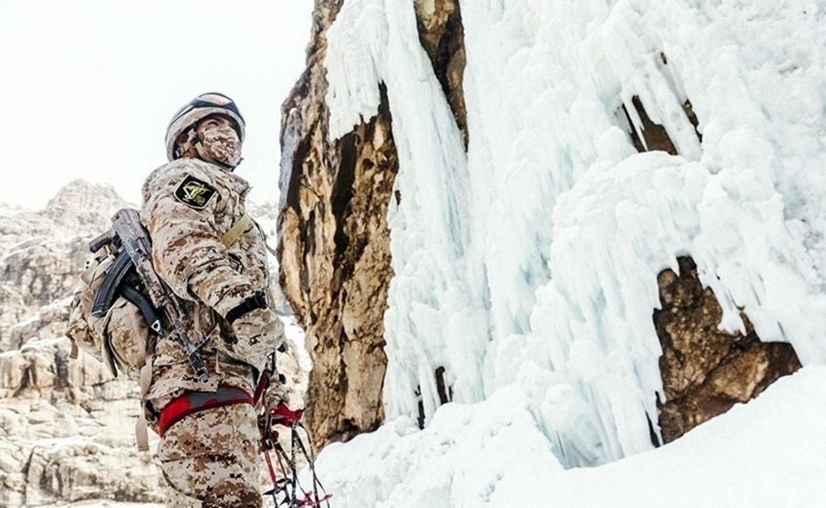 تمرین یخ نوردی یگان ویژه صابرین+عکسها
