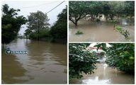 آبگرفتگی ۸۰ سانتیمتری در رامسر پس از بارش شدید باران/عکس