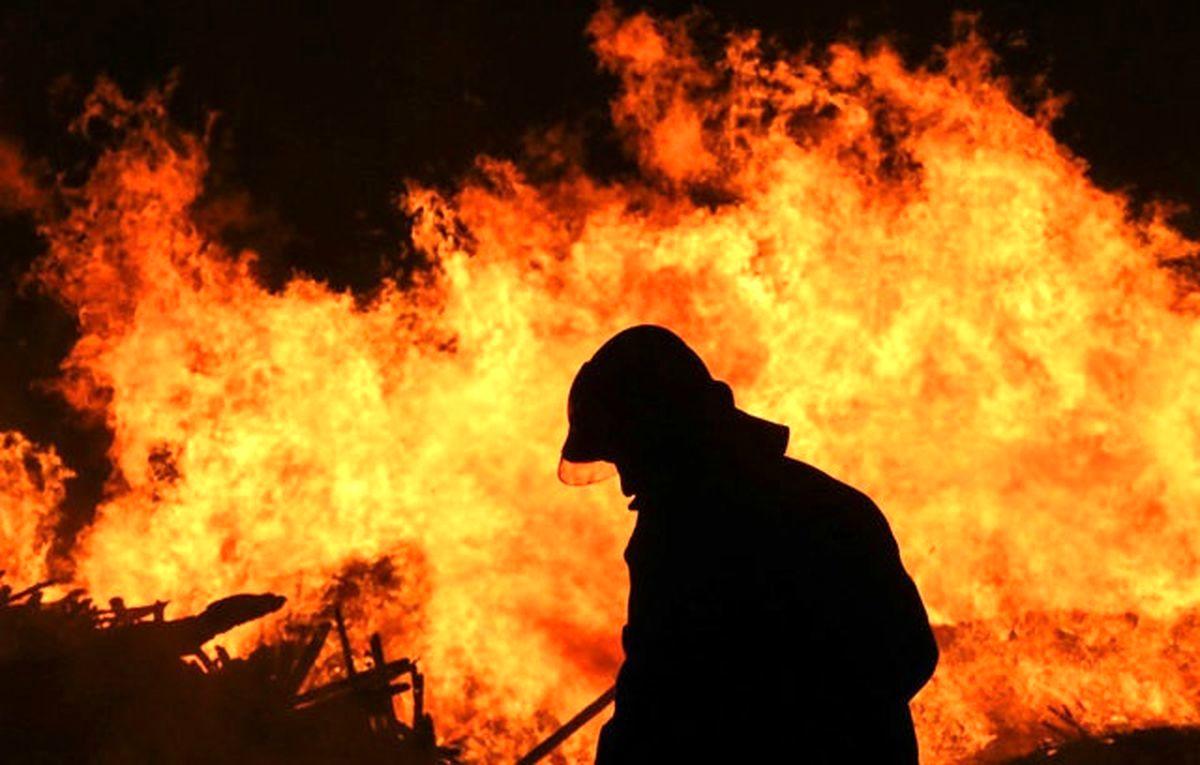 فیلم لحظه وحشتناک شروع آتش سوزی در اهواز