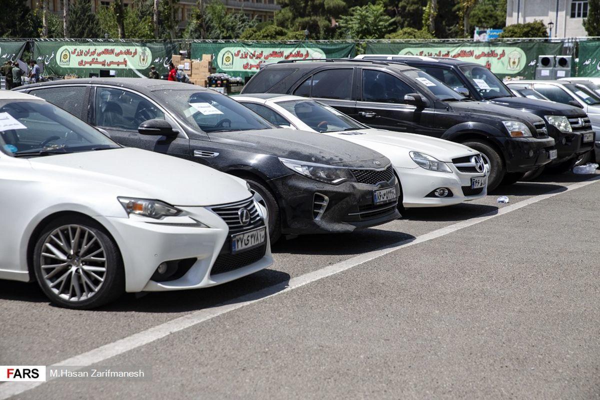 خودروهای لاکچری سرقت شده در اداره پلیس+ عکس