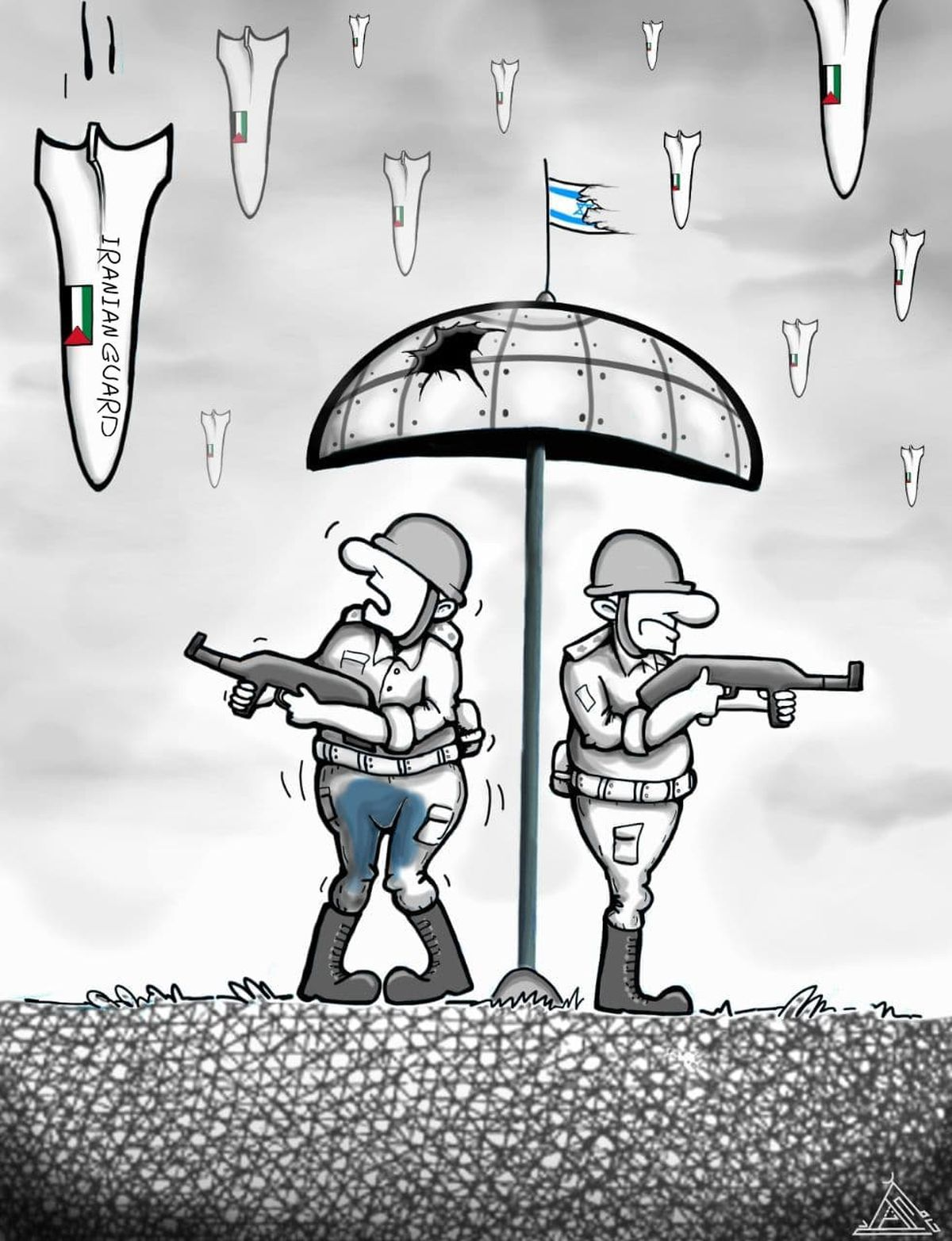 کاریکاتور | گنبد آهنین!