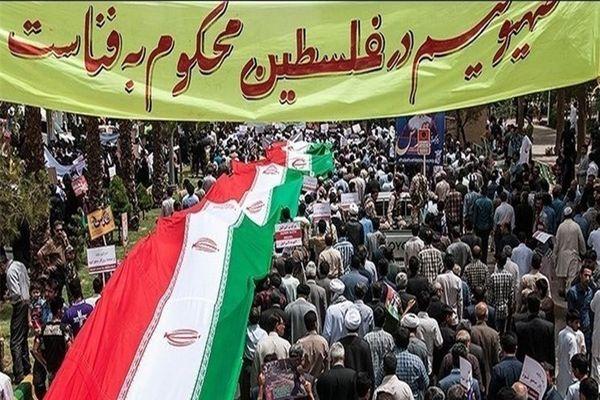 تصاویر راهپیمایی در حمایت از مردم فلسطین بعد از نماز در دانشگاه تهران
